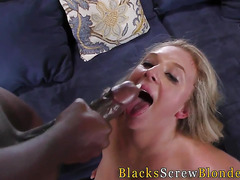 Jizzy mouthed whore black