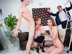 Hot babe Leyla learns new tricks from stepmom Tarra