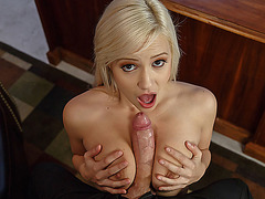 Horny office girl Kylie Page bangs with her boss