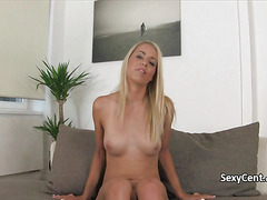 Cast agent creampied blonde hotty