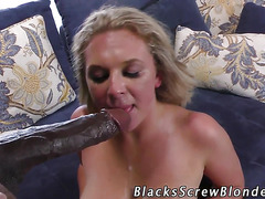 Busty ho interracial fuck