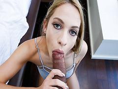 Khloe Kapri get on her knees and smoke cock