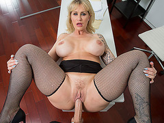 Horny cougar Ryan got fucked in her sexy ass