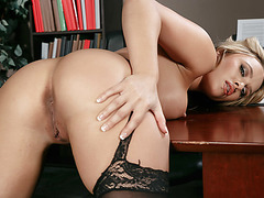 Busty Alexis Monroe receives a big one from Danny D