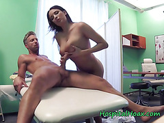 Chick Anissa Kate Rides And Milks Cock Of Doctor