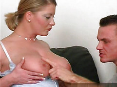 Perfect Huge Tits Milf in Stockings
