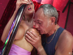 Antonia Deona loves getting fucked while wearing her silky purple dress. Tonight shes