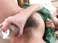 Akari Asagiri in the bathroom stripping and teasing her pussy