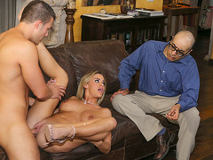 Big tit wife fucked hard in front of cuck