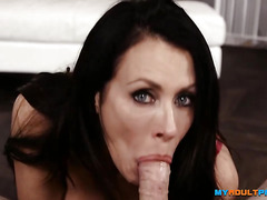 MyAdultPass - MILF Reagan Foxx gets throat fucked