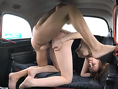 Slim redhead needs some cock in her wet shaved pussy