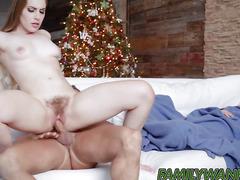 Teen Niki Snow wants warm milk and hot cum from stepdad