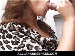Cock sucking Japanese mouch gets filled with hard dick