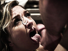 Ryan Driller banged and cums on Eliza's face hoping to be free from the cell