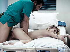 Horny doctor convinces patient Arya to have sex with him