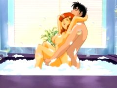 Redhead hentai bigtits fucking in the bathtub