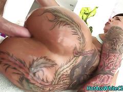 Tattooed slut anal fucks