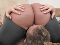 Busty femdom doggystyle fucked after bj
