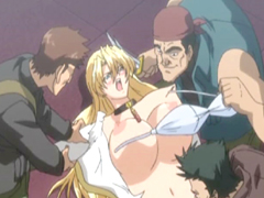 Bigboobs hentai gets humiliated and brutally fucked by bandits