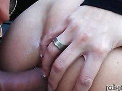 Eurobabe Zuzana anal banged in public