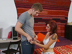 Emo beauty Phoenix Askani involves in cock sucking training and gets fucked