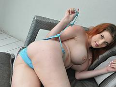 Busty gf Rainia Belle tries out anal sex