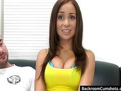 Brunette with big tits gets nailed at audition