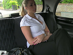 Hot and sexy amateur police woman shows lovely fucking in a taxi