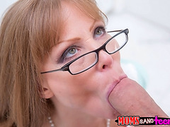 Mandy and her boyfriend teased by stepmom