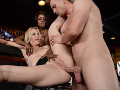 Diamond got fucked sneakily in her tight asshole
