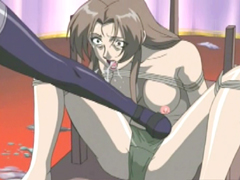 Roped hentai gets hard punishment