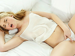 Cute blonde Molly Bennett passionate sex