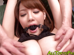 Busty asian gets toyed