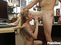 Sexy Blonde Visits Pawn Shop for Ring and Gets Fucked xp14697 HD