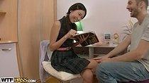 Real asian love doll enjoys hot fuck scene 1