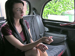 Sexy amateur gets drilled in taxi in exchange of cash plus a free taxi ride