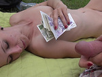 Hot amateur gets fucked in a park in exchange of certain amount of cash