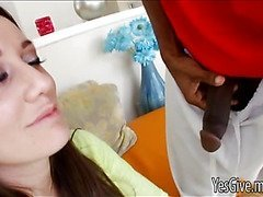 Brooklyn Jade has fun with a black guy