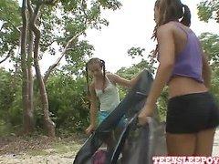 Camping Trip - Sophia Sutra & Nicole Grey part 1