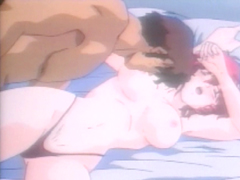 Busty hentai gets licked her bigboobs and hot poked