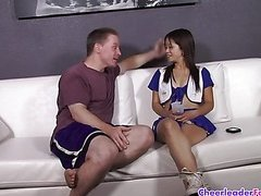 Cheerleader Asia Zo Sucks Bigcock part 1