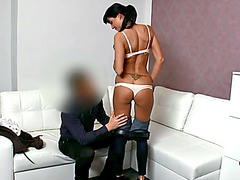 Penelope gets fucked after her interview