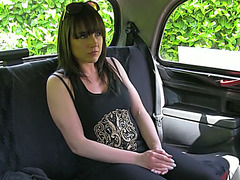Lucy cheats with her husband and gets laid in taxi for free taxi fare