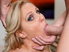 Busty MILF bombshell Julia Ann facialed