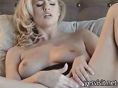 Sultry Alexa Johnson fingerin on the bed