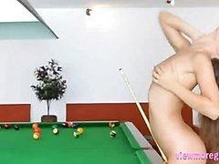 Sexy teen Guerlain shows off her hot ass