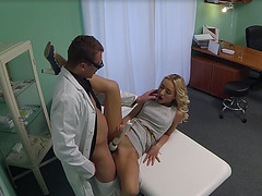 Sexy sales lady gets her pussy fucked