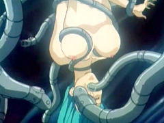 Hentai caught and group tentacles fucked