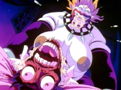 Hentai boy caught and brutally fucked by monster boobs anime
