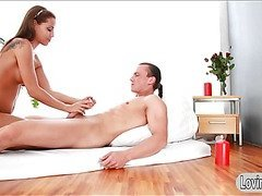 Satin Bloom gives massage and analized